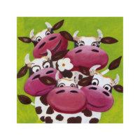 ARTİKEL Happy Cows 4 Parça Kanvas Tablo 70x70 cm KS-247