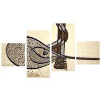 Tictac Design 4 Parça Kanvas Tablo Çini Desen