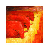 ARTİKEL Chain Gang 4 Parça Kanvas Tablo 70x70 cm KS-203
