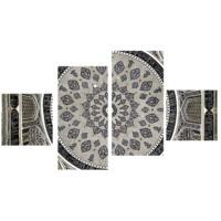 Tictac Design Desen 4 Parça Kanvas Tablo 110