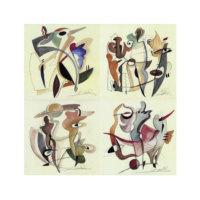 ARTİKEL Alfred Gockel 4 Parça Kanvas Tablo 70x70 cm KS-805