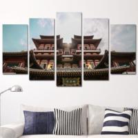 K Dekorasyon Japon Mimarisi Yapılar 5 Parçalı Mdf Tablo KM5P1511
