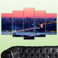 K Dekorasyon İstanbul 5 Parçalı Mdf Tablo KM-5P 2488