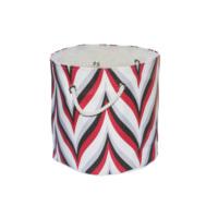 Dekorjinal Organizer Sepet Kırmızı Beyaz Ebruli Desen