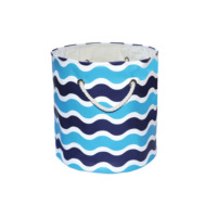 Dekorjinal Organizer Sepet Mavi Lacivert Dalgalı Marin Desen