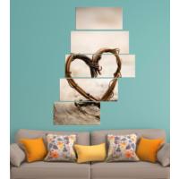 K Dekorasyon Love 5 Parçalı Merdiven Mdf Tablo 1227
