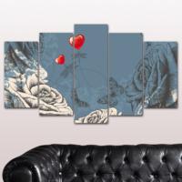 K Dekorasyon Love 5 Parçalı Mdf Tablo KM-5P 2324