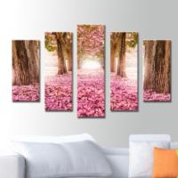 K Dekorasyon İlkbahar 5 Parçalı Mdf Tablo KM5P1788