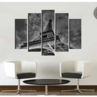 K Dekorasyon Eyfel Kulesi 5 Parçalı Mdf Tablo KM5P1007