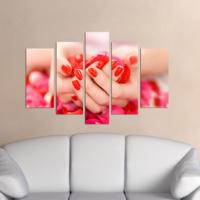 Dekorjinal Eller 5 Parçalı Dekoratif Mdf Tablo -DEC024
