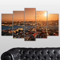 K Dekorasyon İstanbul 5 Parçalı Mdf Tablo KM-5P 2558