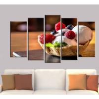 K Dekorasyon Ice Cream 5 Parçalı Mdf Tablo KM5P1372