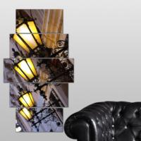 K Dekorasyon Sokak Aydınlatmaları 5 Parçalı Mdf Tablo KM-5P 2597