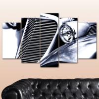 K Dekorasyon Klasik Otomobil 5 Parçalı Mdf Tablo KM-5P 2502