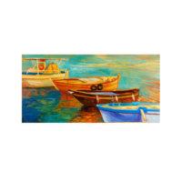 ARTİKEL Boats 5 Parça Kanvas Tablo 135x85 cm KS-436