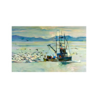 ARTİKEL Fisherman 5 Parça Kanvas Tablo 135x85 cm KS-337