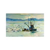 ARTİKEL Fisherman 5 Parça Kanvas Tablo 135x85 cm KS-337
