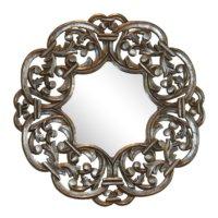 Casa di Mona Altın Zemin Üzerine Gümüş Patine Ahşap Ayna