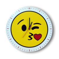 Smiley Concept Öpücük Emoji Duvar Saati
