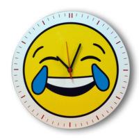 Smiley Concept Gülmekten Ağlayan Emoji Duvar Saati