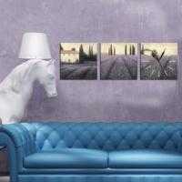 Dekorjinal 3 Parçalı Dekoratif Tablo Duvar Saati - YTDS07