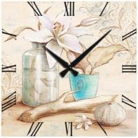 Frank Ray Mdf Duvar Saati 40 cm Çiçek