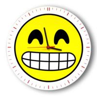 Smiley Concept Sırıtan Emoji Duvar Saati