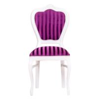 3A Mobilya Purple Line Oymalı Sandalye - Beyaz