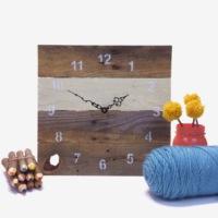 Oldwooddesign Palet Saat (Beyaz)