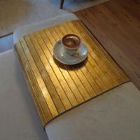Esser Altın Varak - Koltuk Sehpası 30x50 cm