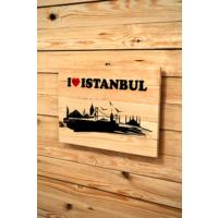 Oldwooddesign I Love Istanbul Tablo