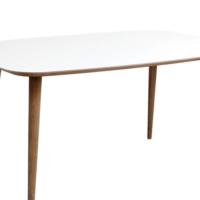 Woodenbend Dreux Beyaz Yemek Masası
