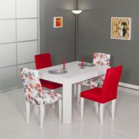 Mobetto Manolya Masa Seti Kırmızı ( Masa + 4 Adet Sandalye )