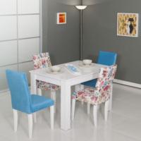 Mobetto Manolya Masa Seti Mavi ( Masa + 4 Adet Sandalye )
