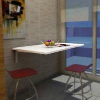 Bmd Mobilya Duvara Monte Muftak Masası (3 cm kalınlığında)
