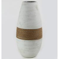 Desen Home İpli Oval Vazo Gri 37 cm Gs99328