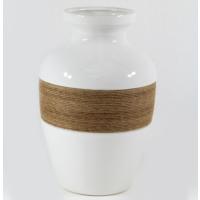 Desen Home İpli Tombul Vazo Beyaz 28 cm Gs99891