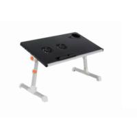 Yükseklik Ayarlı Çift Soğutuculu Portatif Katlanabilir Laptop Sehpası Siyah
