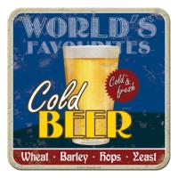 Nostalgic Art 2 Li Cold Beer Bardak Altlığı 9 x 9 cm
