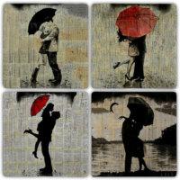 Oscar Stone Aşk Yağmuru Bardak Altlığı