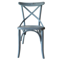 Senora Özlem Antik Su Bazlı Thonet Sandalye - Mavi