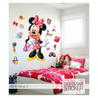 Artikel Minnie-3 Dev Duvar Sticker