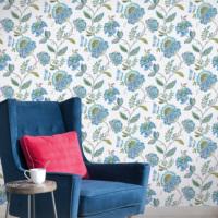 Mot Çiçekli Duvar Kağıdı 10-007605