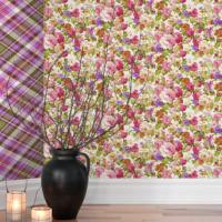 Mot Çiçekli Duvar Kağıdı 10-003402