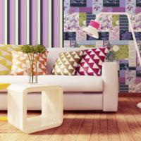 Mot Çiçekli Duvar Kağıdı 10-006601