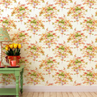 Mot Çiçekli Duvar Kağıdı 10-007002