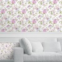 Mot Çiçekli Duvar Kağıdı 10-005201