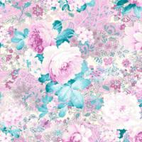 Mot Çiçekli Duvar Kağıdı 10-008801