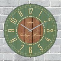 Cadran Lu x ury Vintage Home Bombeli Cam Duvar Saati Yeşil Cl12