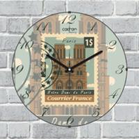 Cadran Lu x ury Bombeli Cam Duvar Saati Posta Pulu Paris Cl43
